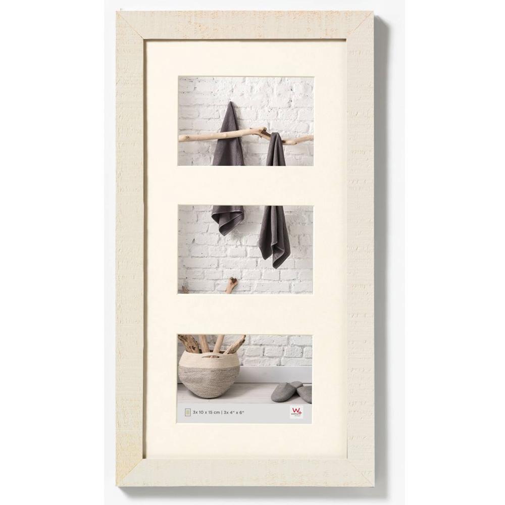 Cornice galleria per 3 Home 13x18 cm | crème bianco | vetro standarde