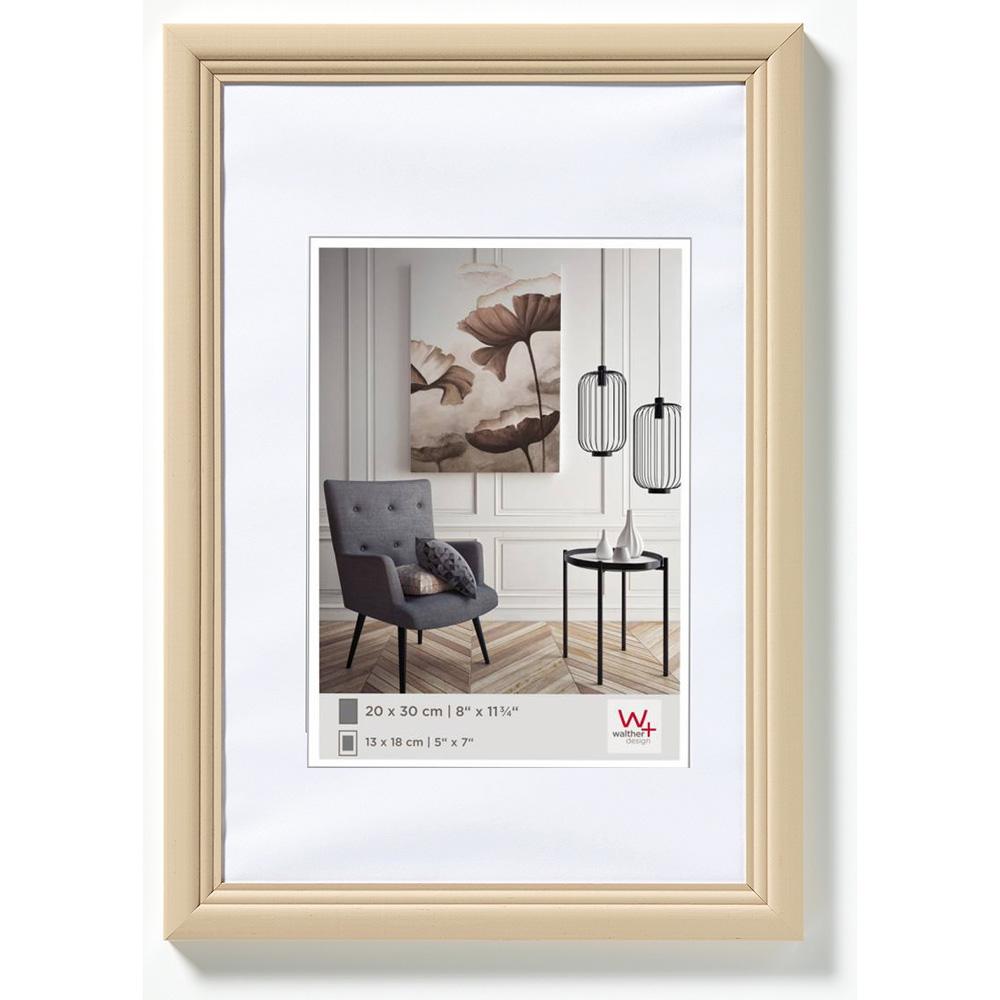 Cornice in legno Living 21x29,7 cm (A4)   Cappuccino   Vetro standard