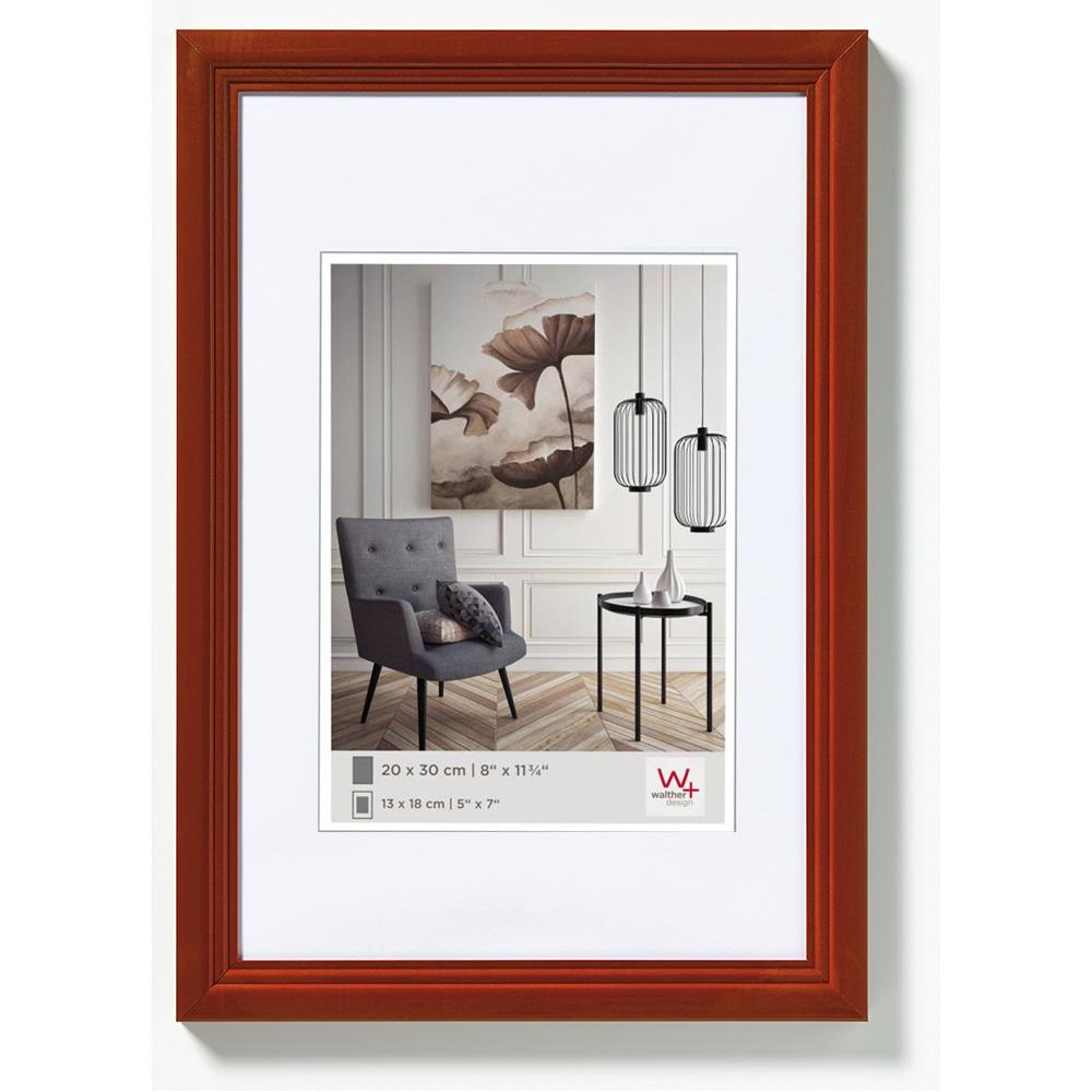 Cornice in legno Living 10x15 cm | nocciolina | vetro standarde