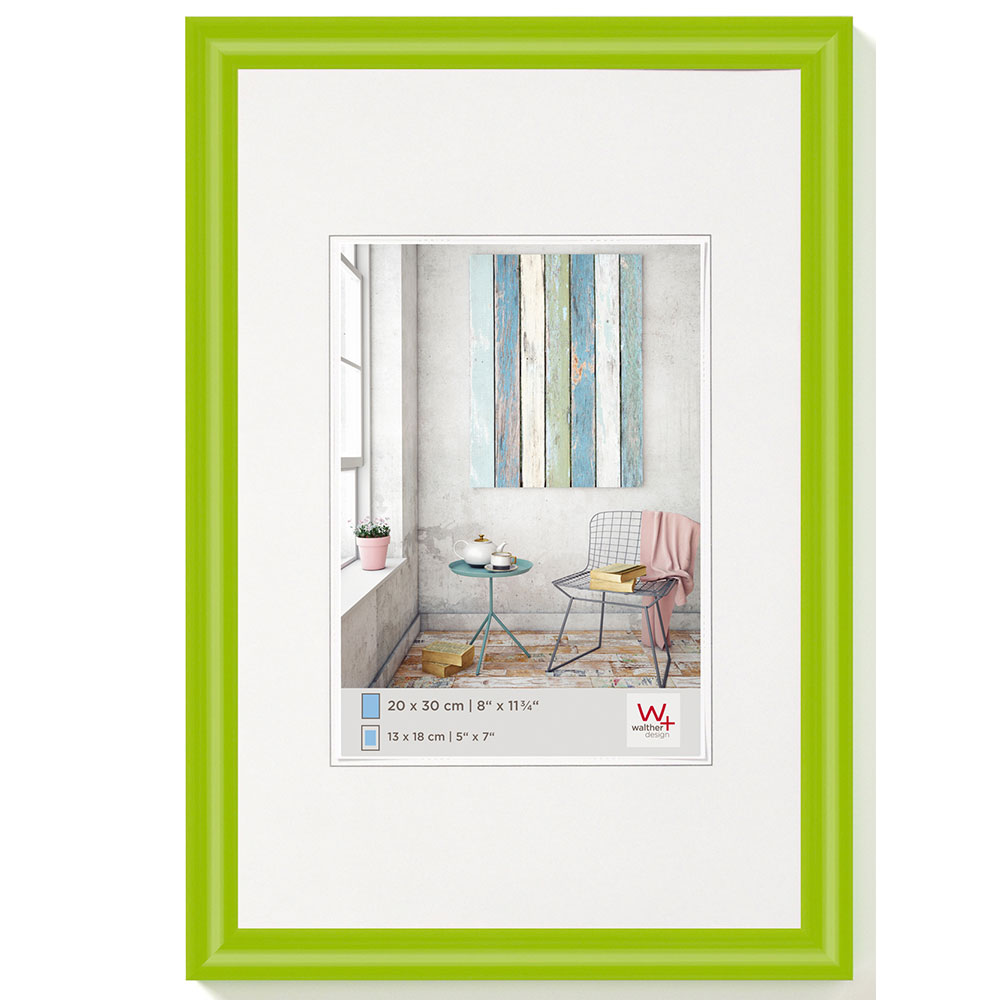 Cornice in materiale sintetico Trendstyle 10x15 cm | verde | vetro standarde