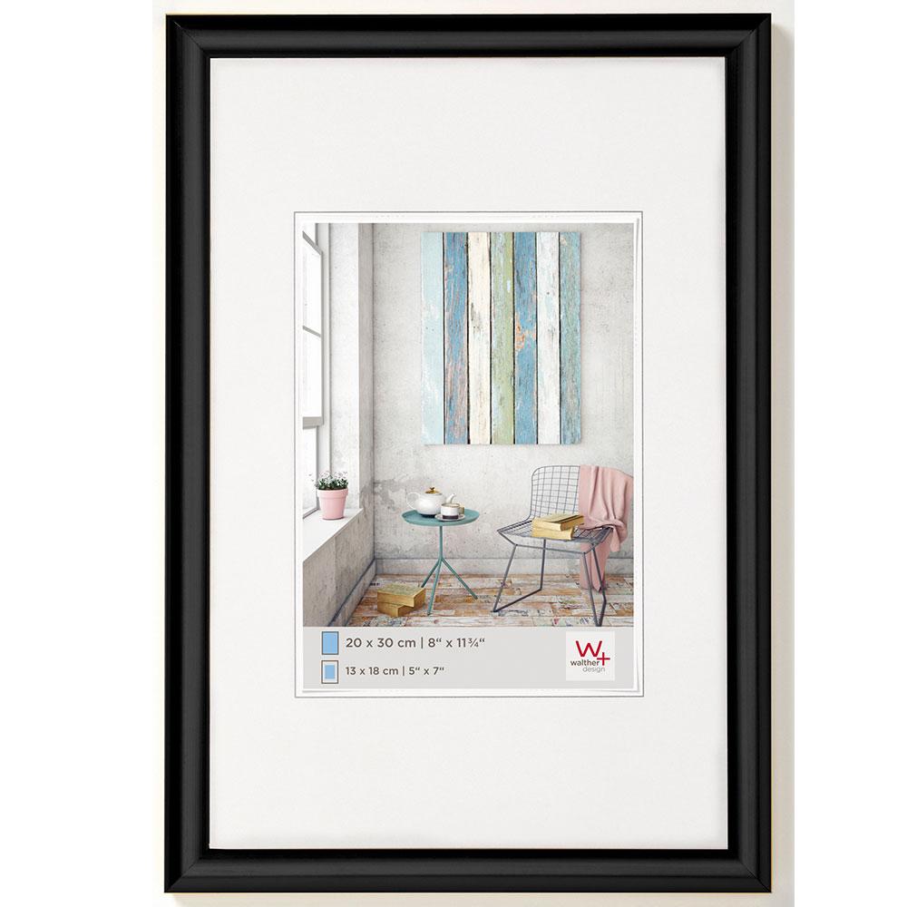 Cornice di plastica Trendstyle 40x60 cm | nero | vetro standarde