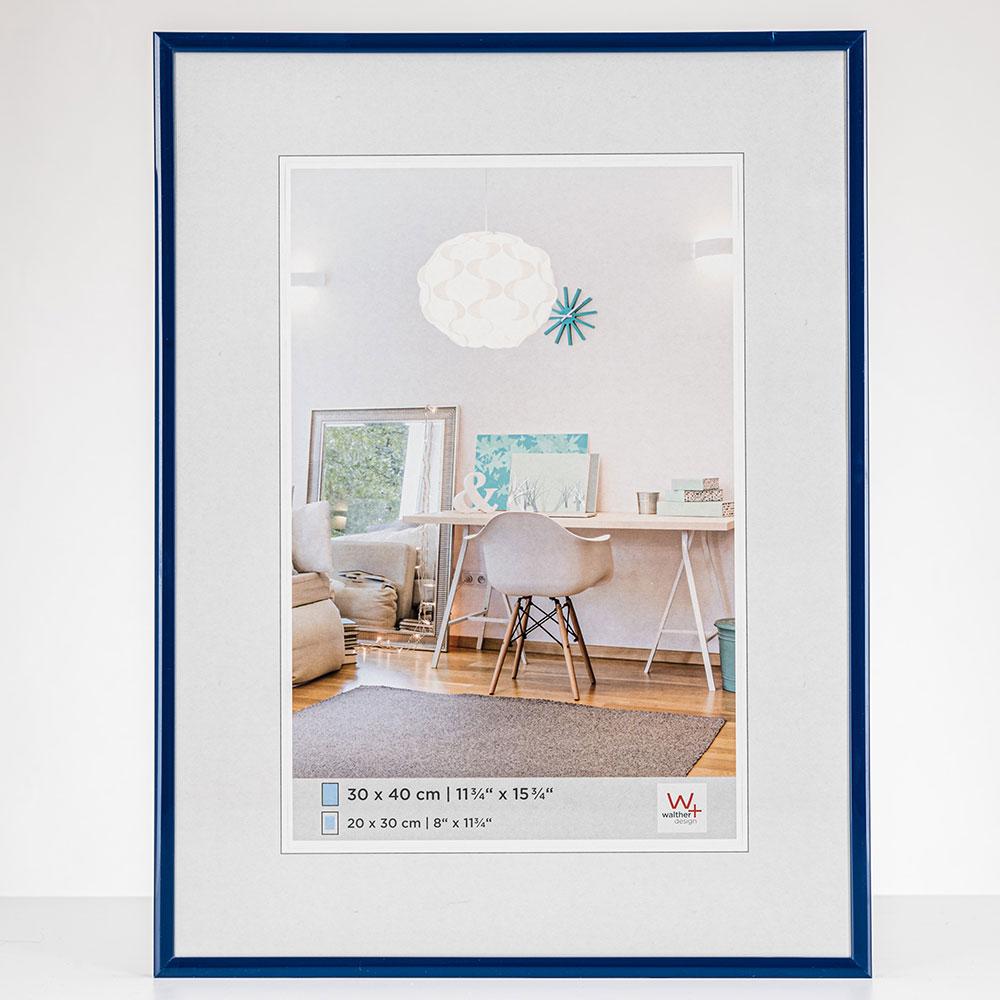 New Lifestyle Cornice di plastica 20x30 cm | blu | vetro normale