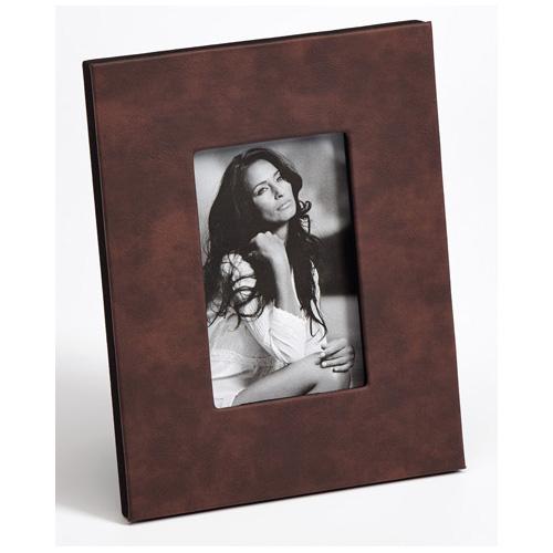 Cornice per ritratti Helene con pelle artificiale 10x15 cm | nero | vetro normale