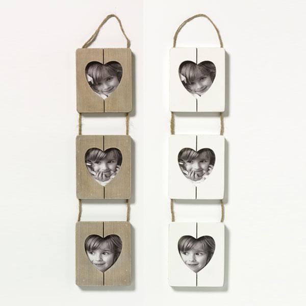 Cornice per foto Cuore con ritaglio in forma di cuore 3x9x9 cm | marrone | vetro standarde