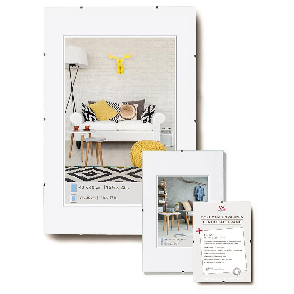 Supporto immagine senza cornice 28x35 cm | vetro standarde