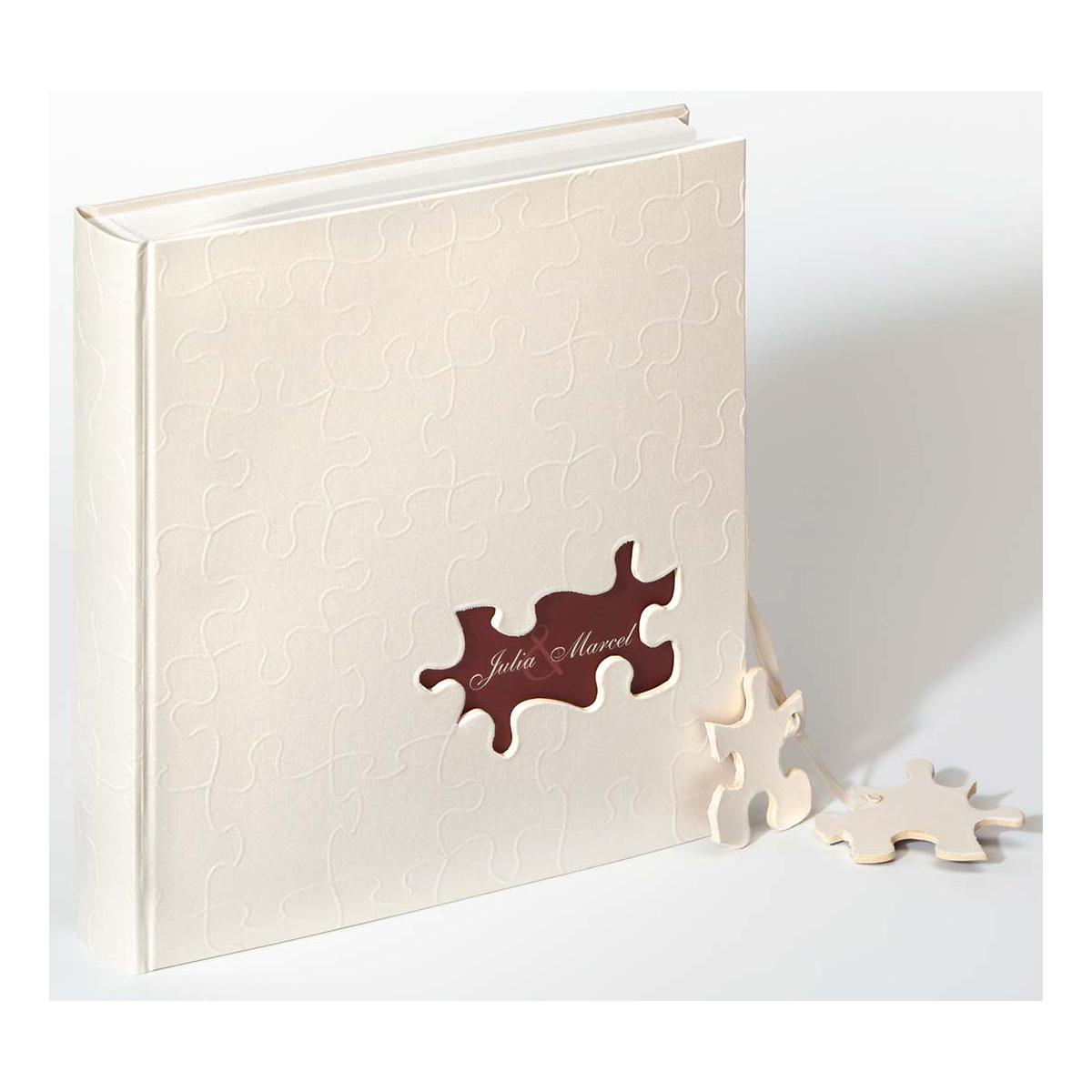 Album di nozze Puzzle con nomi degli sposi