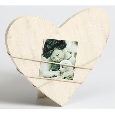 Cornice per ritratti Bella 2, forma di cuore grigio variabel | bianco | vetro normale