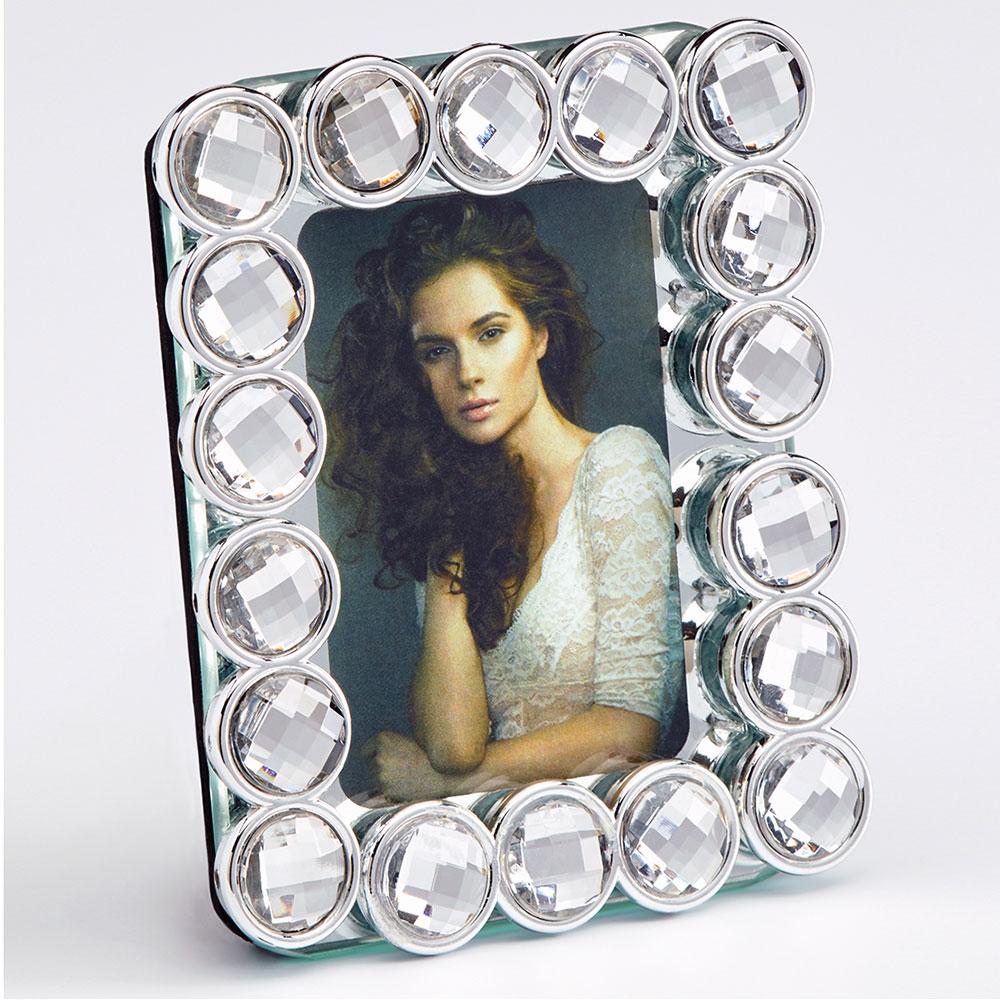 Cornice per ritratti Perle 5x7 cm | argento | vetro normale