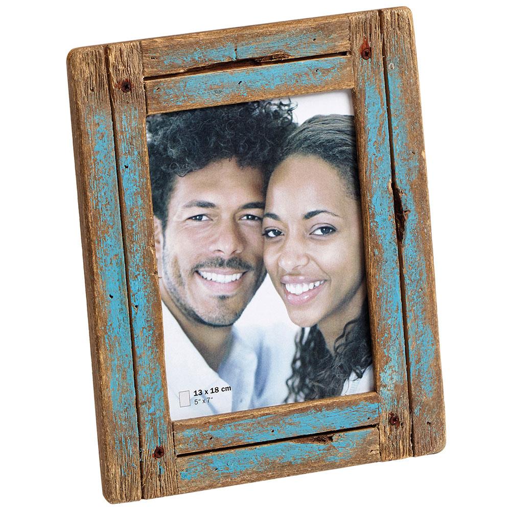 Portafoto Dupla 15x20 cm | blu-naturale