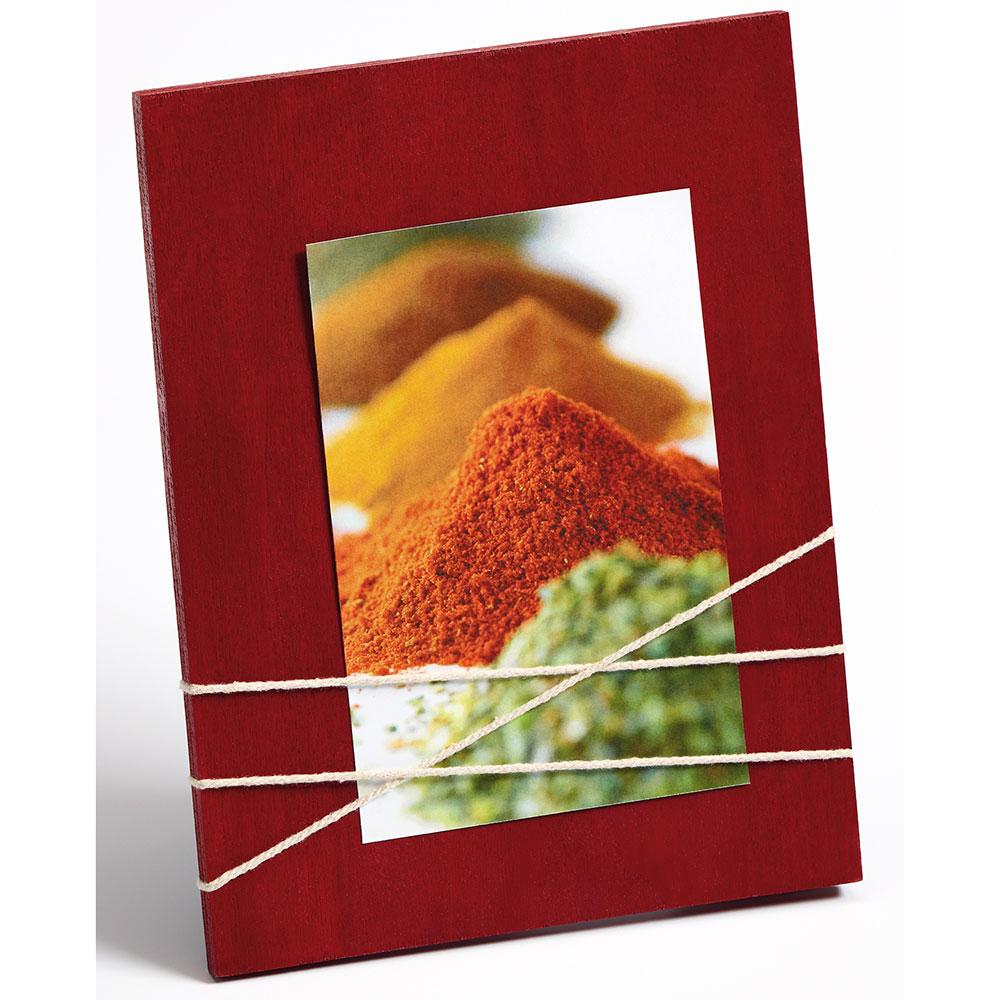 Portafoto con cordicella La Casa 10x15 cm | rosso
